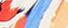 cremeweiss/orange/blau, print