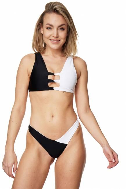 Bustier-Bikini-Set PORTOFINO schwarz/weiss