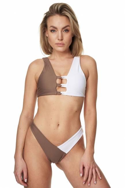 Bustier-Bikini-Set PORTOFINO beige/weiss