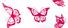 weiss/rot, butterflies
