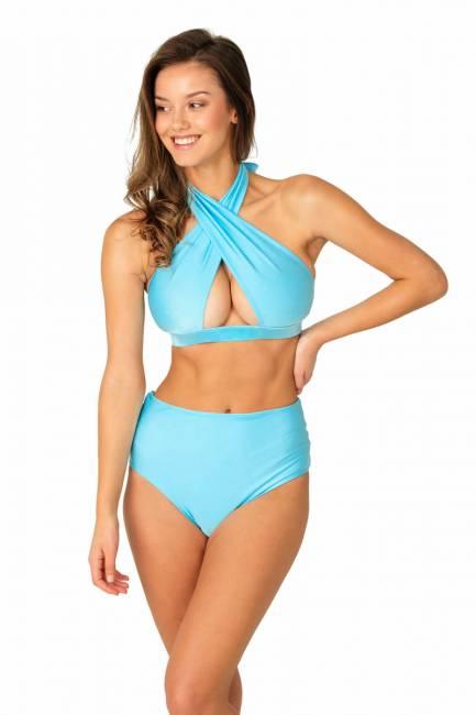 Neckholder-Bikini-Set BAHAMA MAMA hellblau